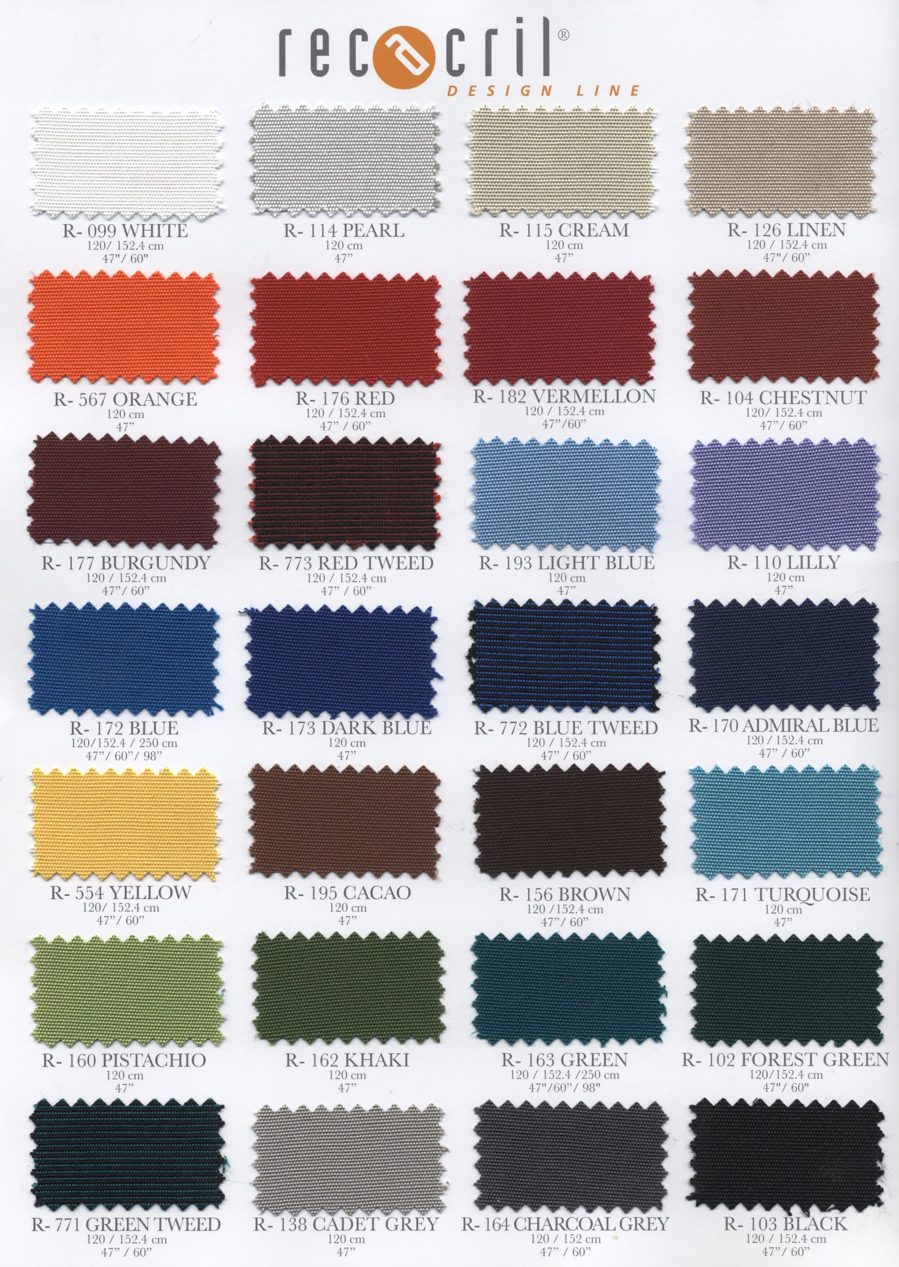 Patio Awning Swatch Materials